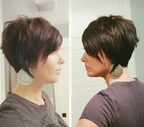 Long Pixie Cut Side View