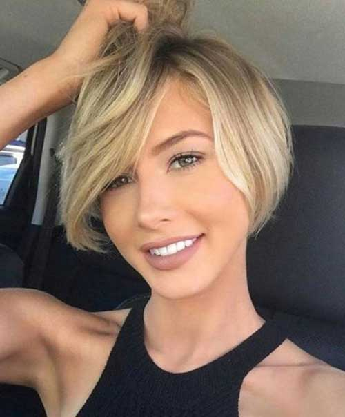 short hair style for round faces 30 haircuts for faces crazyforus 8494 | 2018 Short Hair for Round Faces