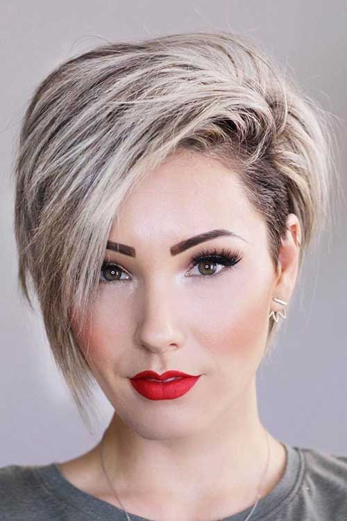 Trendy Hairstyles 2014: 35 Best Layered Short Haircuts For Round Face 2018
