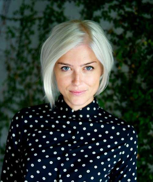 Blonde Bob Haircuts for Round Faces