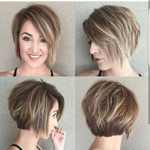 Layered Short Haircuts Round Faces