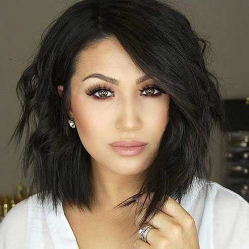 35 best layered short haircuts for round face 2018 short layered short to medium haircuts for round faces winobraniefo