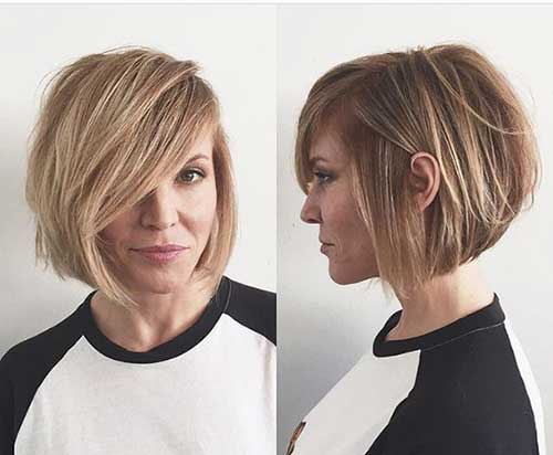 35 Best Layered Short Haircuts For Round Face 2018
