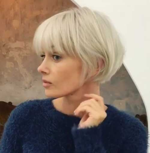 Short Bob Cut With Bangs