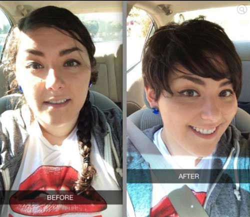 Short Haircuts on Fat Faces