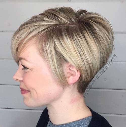 Short Blonde Hair 2018-11