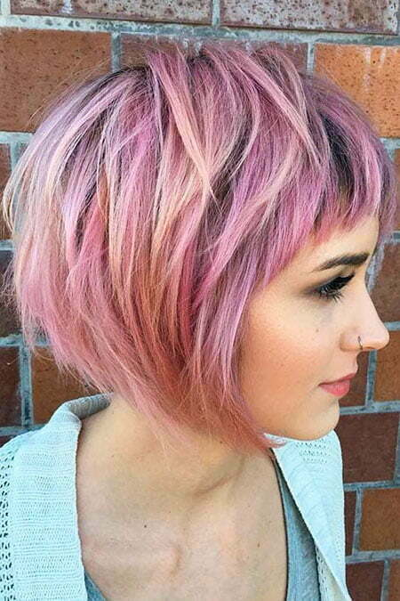 Purple Bob Pink Pastel