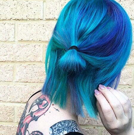 Short Blue Hair, Hair Crazy Color Girl