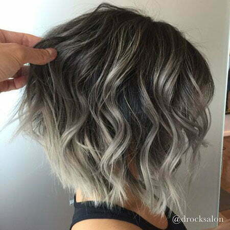 Short Hair Color Ideas, Balayage Hair Silver Blonde