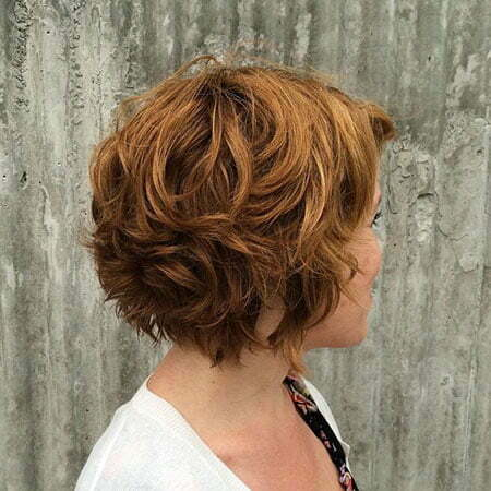 Short Layered Wavy Hairtyles, Short Curly Brown Layered