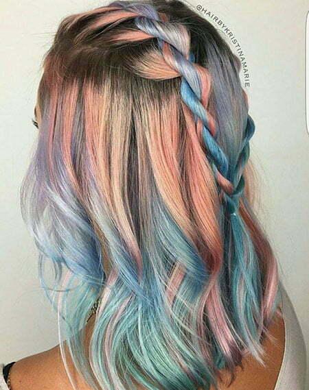Hair Color Blue Mint