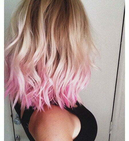 Hair Pink Gold Blonde