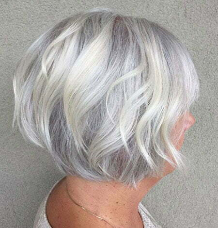 Silver Short Hair Wavy
