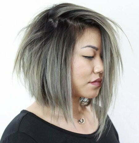 Gray Short Choppy Blonde