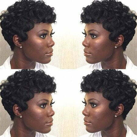 Black Short Perm Natural