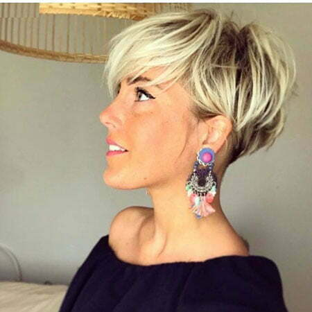 Short Pixie Blonde Hair