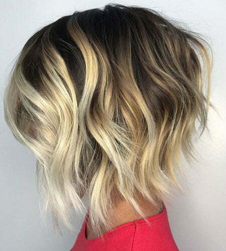 Wavy Chunky Choppy Blonde