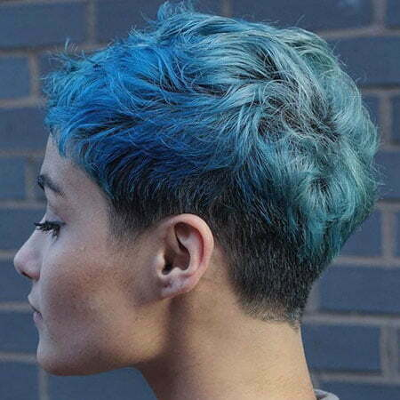 Pixie Choppy Short Blue