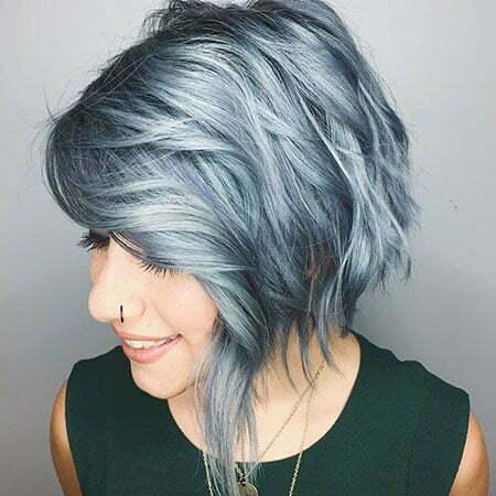 Silver Bob Grey Blue
