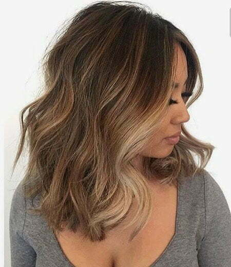 Brown Balayage Highlights Hair