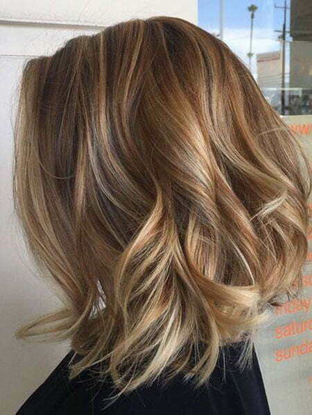 Hair Balayage Highlights Color