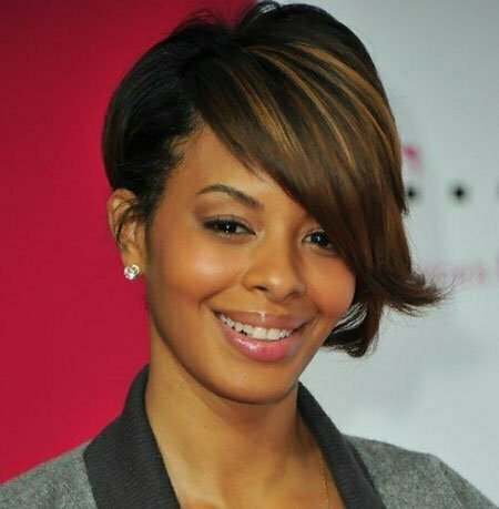 12 short haircuts for black women with round faces