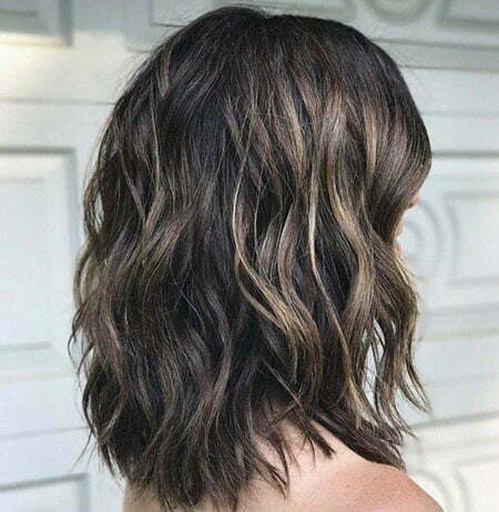 Choppy Hair, Wavy Length Thick Shoulder