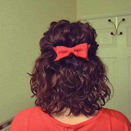 Cute Hair, Curly Length Chin Naturally