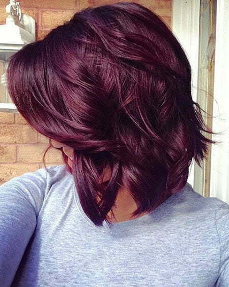 Red Violet Hair Color, Bob Hair Color Locks