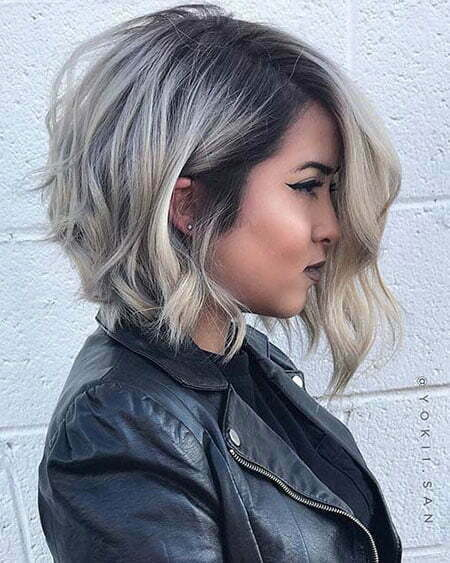 Bob Balayage Color Angled