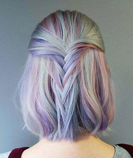 Hair Color Pastel Purple