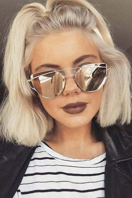Girl Short Hairtyle, Sunglasses Easy Cute Short