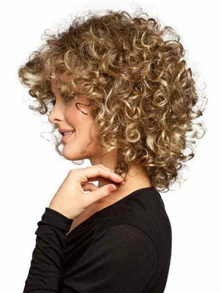 Blonde Hair, Curly Naturally Short Hairtyles
