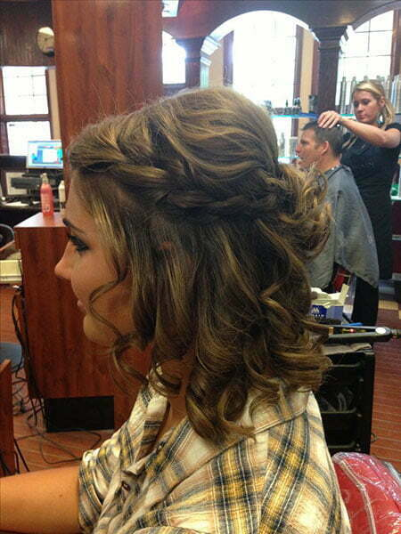 Cute Prom Hair for Short Hair, Prom Short Hair Homecoming