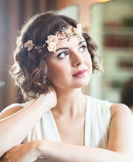 Curly Hair, Wedding Short Bridal Hair