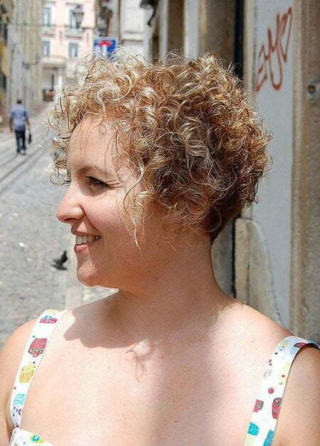 Very Short Curly Haircut for Women, Curly Short Hair Very