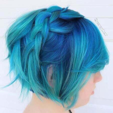 Hair Blue Color Fine