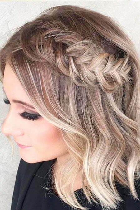 Braided Hair, Hair Short Prom Color
