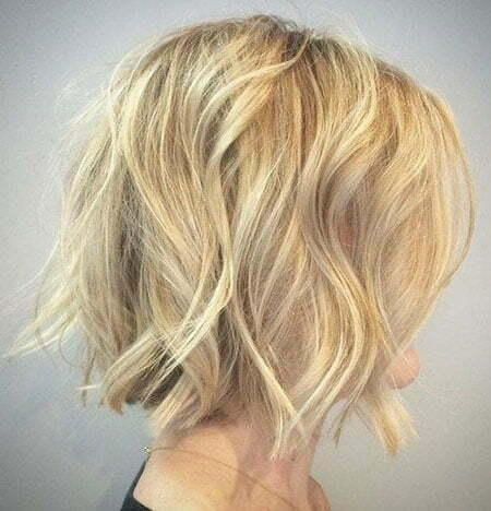 Blonde Wavy Short Balayage