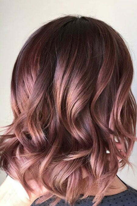 Hair Color Gold Mauve