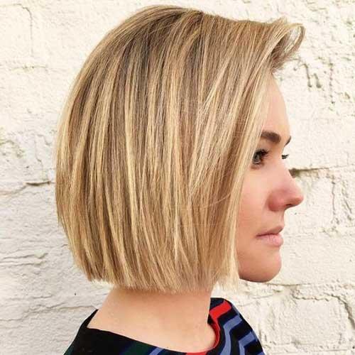 Blunt Blonde Bob Haircuts