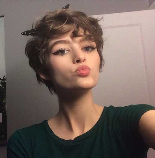 Curly Pixie Hairstyles 2018