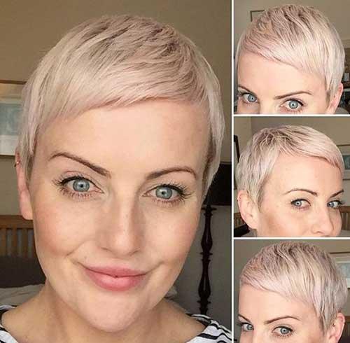 Nette blonde Pixie schneidet 2018