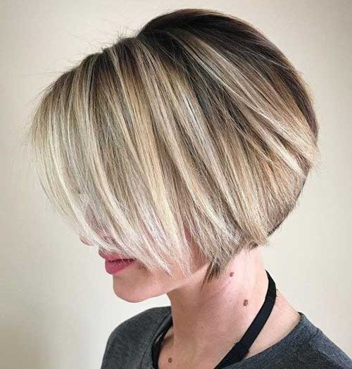 Layered Blonde Pixie Bob Haircuts for 2018