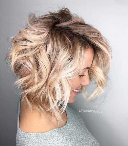 Short Hair Blonde Balayage Bob Haircuts for 2018