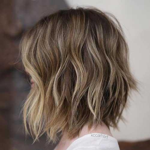 Short Brown Bob Haircuts with Highlights
