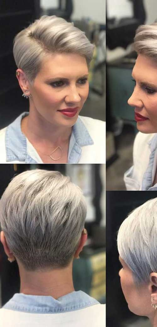 Side Part Pixie Haircut 2018