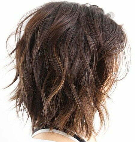 Short Haircut for Thick Wavy Hair, Wavy Length Choppy Thick
