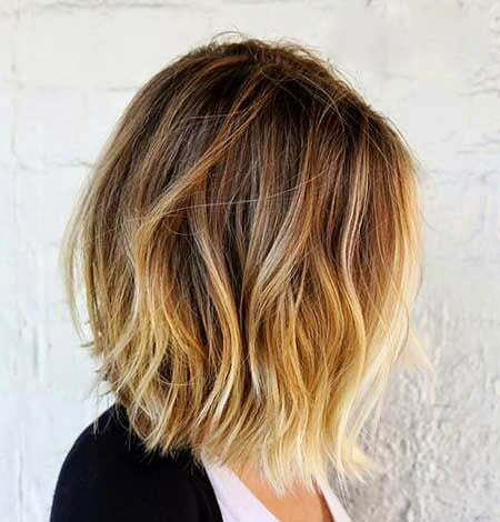 Brown Balayage Choppy Ombre