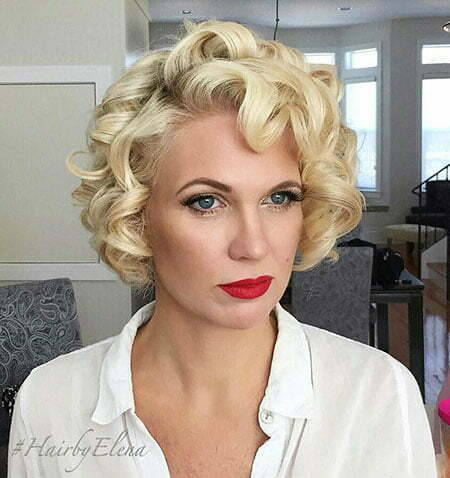 Curly Short Vintage Blonde